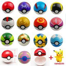 13 Estilos 1 Pcs Pokemon Pokeball + 1 pcs Aleatória Livre Ir Figuras Anime Figuras de Ação Brinquedos
