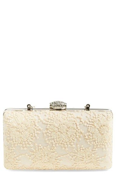 Jessica McClintock 'Noelle' Lace Clutch available at #Nordstrom