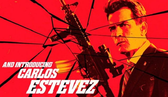 Charlie Sheen Goes With His Real Name for Machete Kills The actor is billed as Carlos Estevez in the upcoming action film