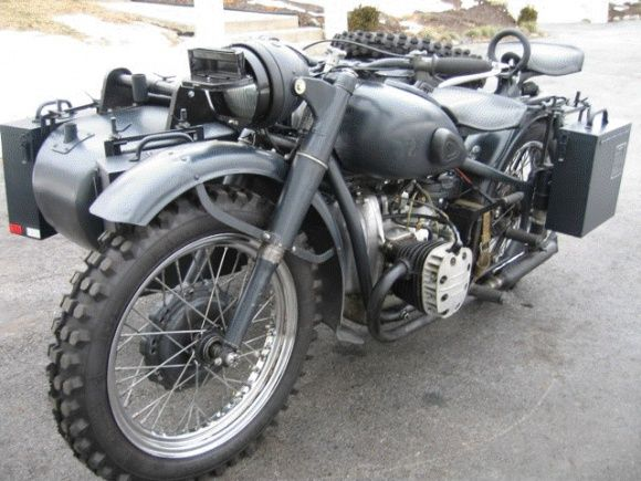1944 Soviet m72 Sidecar Military Motorcycle