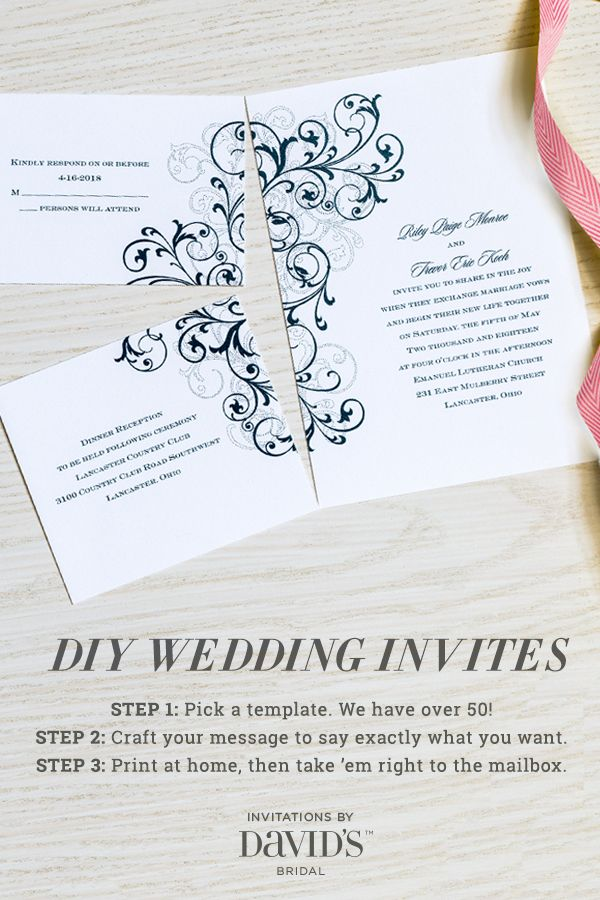 Look how they piece together! Out of an 8.5x11 sheet of paper? Oh this is cool! The easiest way to design your own wedding invites.