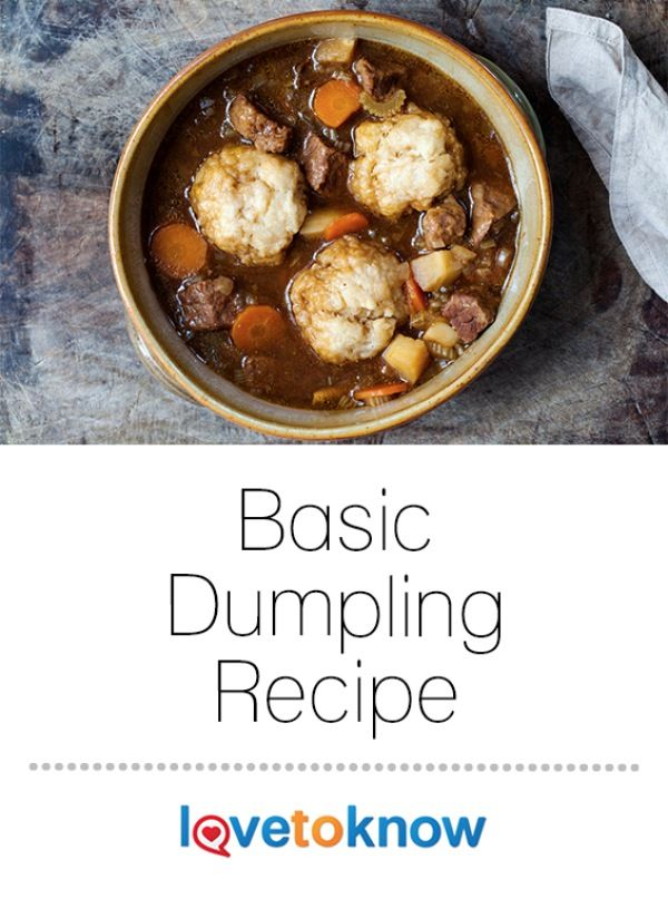 Whether you're making beef stew and want to take it up a notch, or hearty chicken and dumplings, your family is sure to love it! | Basic Dumpling Recipe from #LoveToKnow