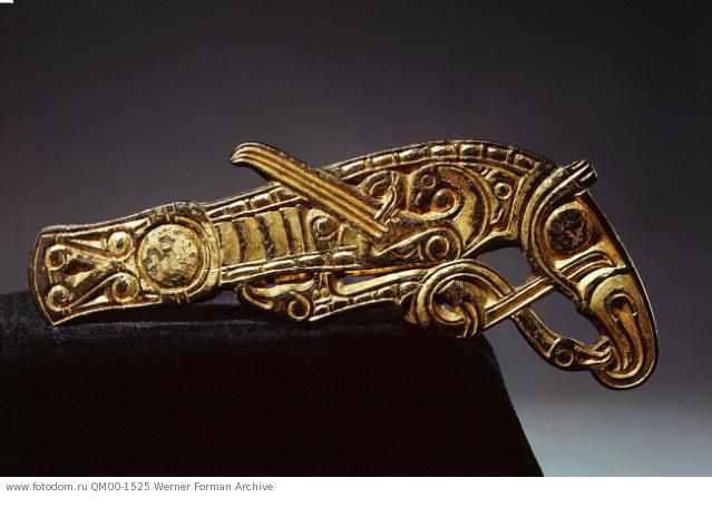 Bridle mount in the form of a raven. Viking Swede, 8th century. Statens Historiska Museum, Stockholm,