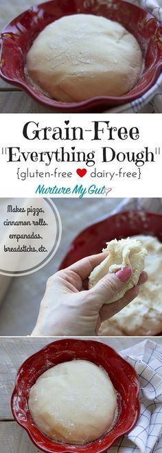 This Grain-Free Everything Dough is perfect for making pizza, cinnamon rolls, empanadas, pita bread, breadsticks and more! Made with blanched almond flour, tapioca flour and potato starch. Dairy free, gluten free & Paleo friendly.