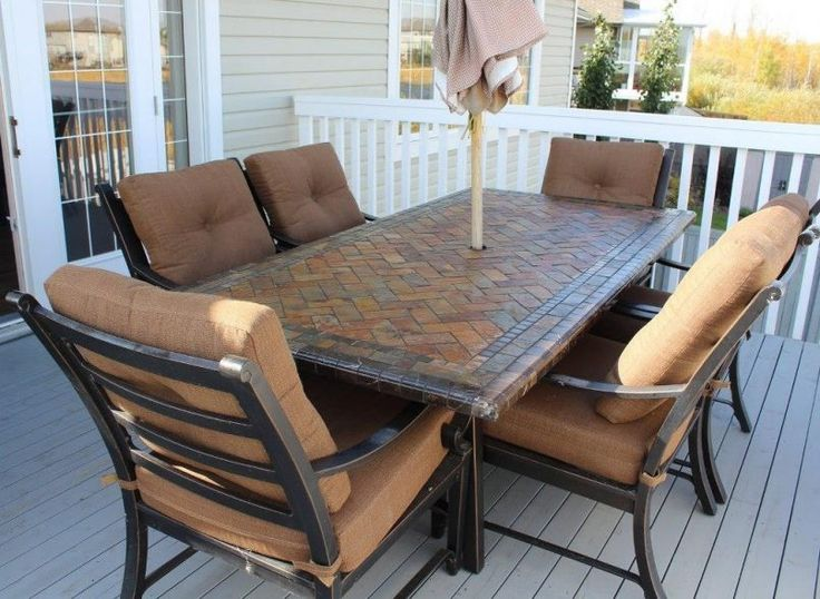Outdoor Brown Classic Stained Steel Conversation Set With Patio Umbrella Also  Patio Sets on Sale for Your Lounger Outdoor Dining Area