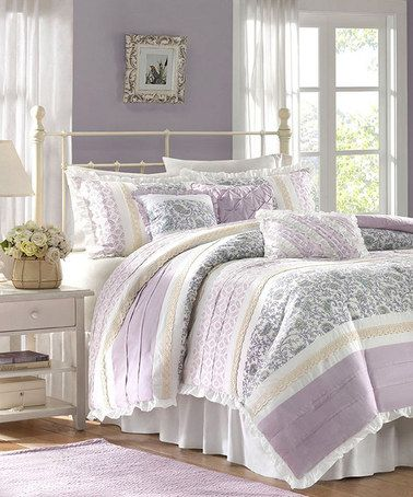 Take A Look At This Lilac Sasha Comforter Set By Jla Home