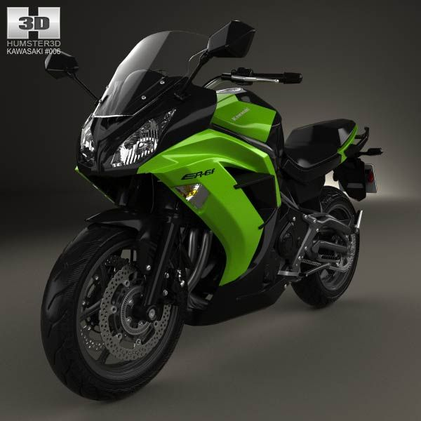 Kawasaki Ninja 650R (ER-6f) 2014 3d model from humster3d.com. Price: $75