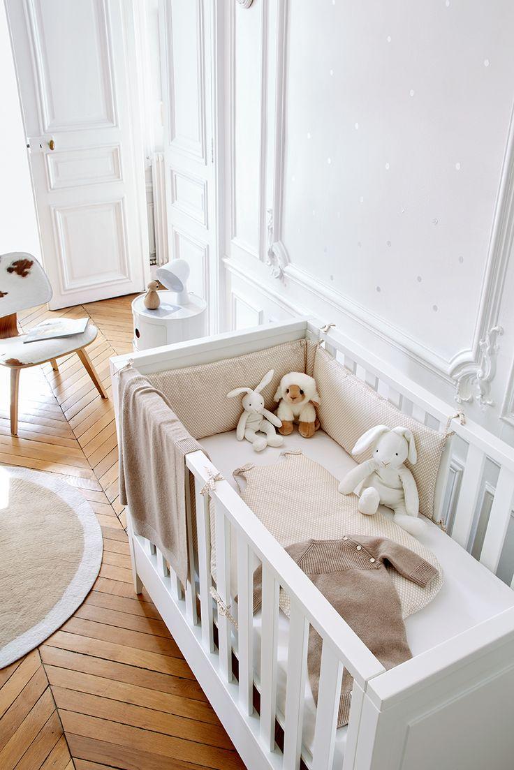 chambre de bébé selon Jacadi   #litbebe #doudou #tourdelit #couverturebébé #cachemire