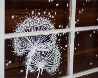 Whimsical Window Painting (Dandelion Dust)
