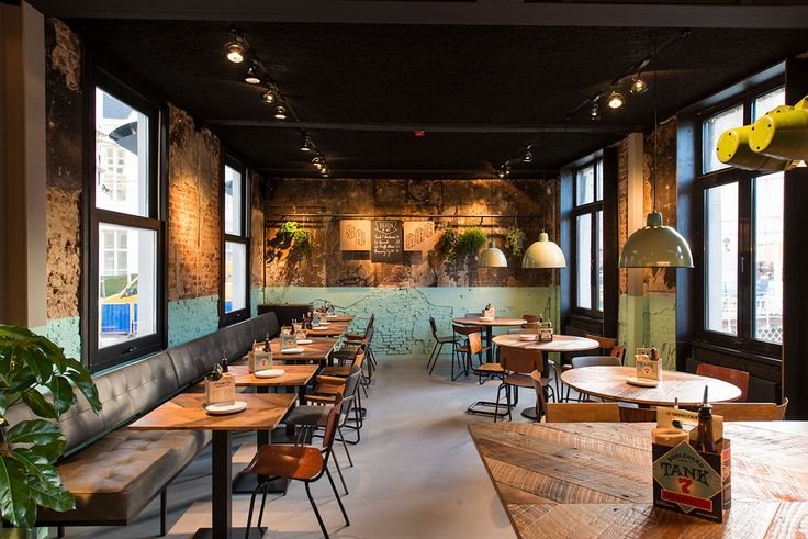 Otomat Gent Cafe interieurs, Restaurant ontwerp, Rustiek
