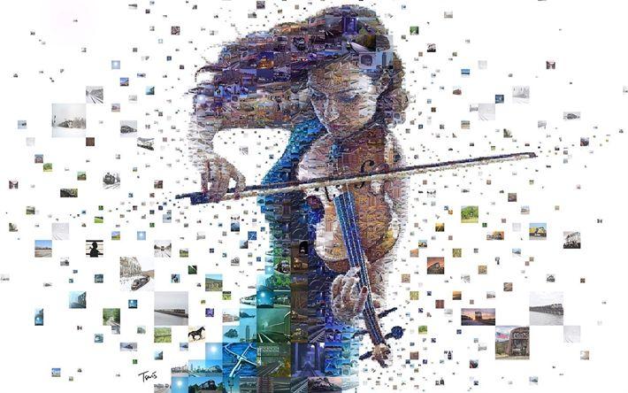 Hämta bilder violinisten, konst, fiol, kreativa, foton