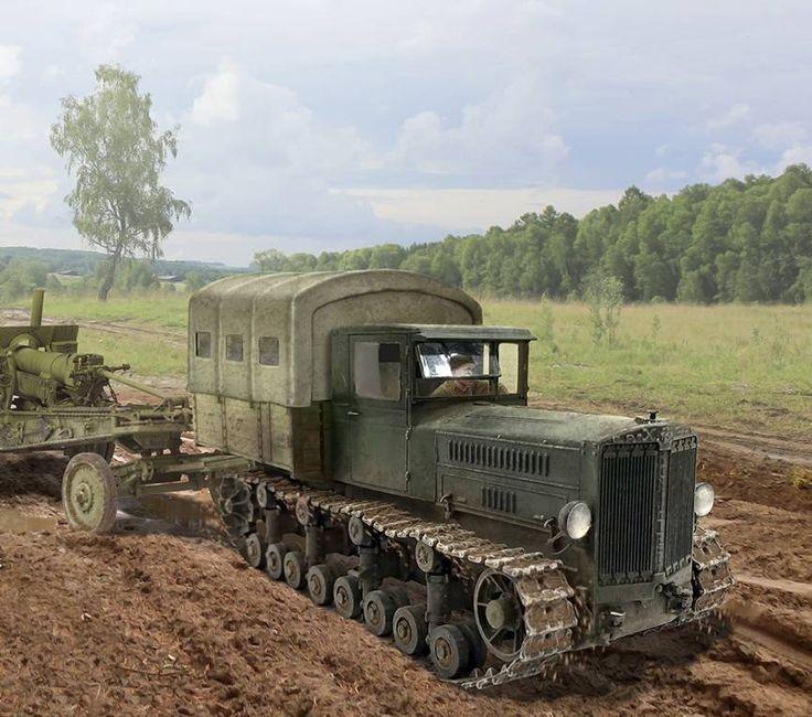 """Tracto sovietico """"Komitern"""" remolcando una pieza de artilleria: http://www.elgrancapitan.org/foro/viewtopic.php?f=12&t=17519&start=12000#p917666"""