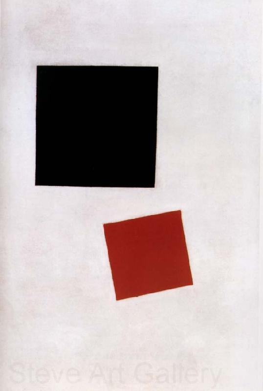 Blazk square and red square (1915) - Kazimir Malevich