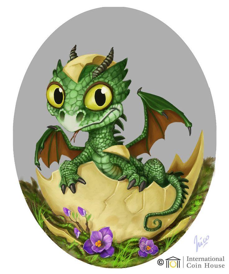Днем святого, открытки дракончики
