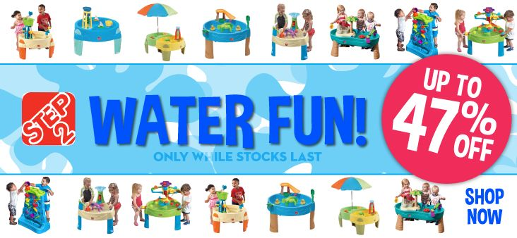 UP TO 47% OFF Step 2 Water Tables!...