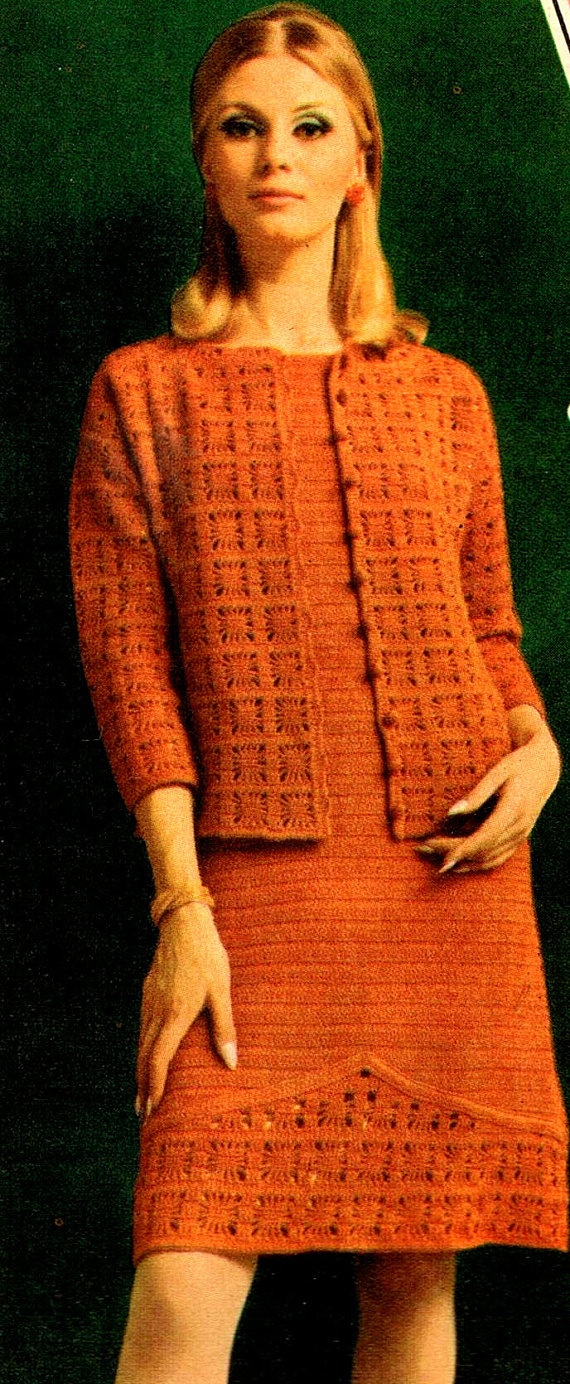 Vintage Crochet Pattern PDF 1950S Womens by Knittingknitch on Etsy, $2.99