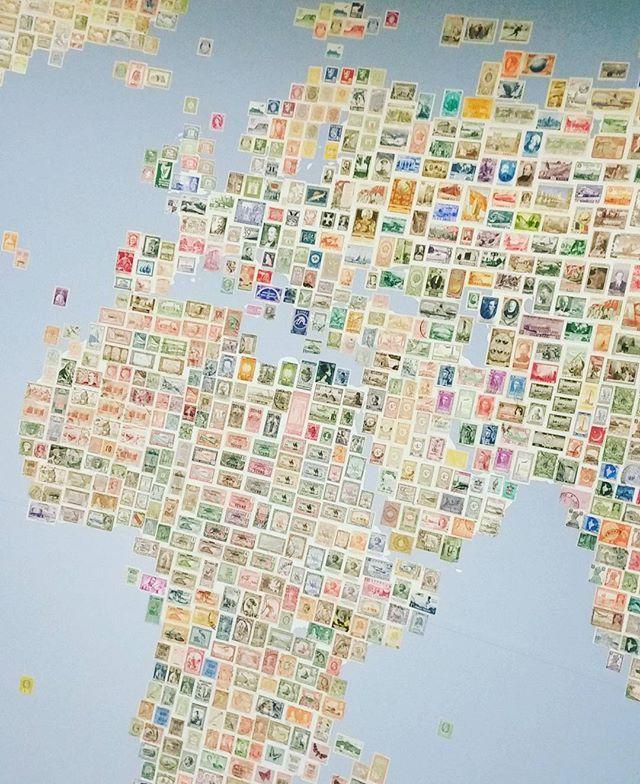 #postimerkkikartta #postimerkki #postimuseo #vapriikki #stamps #map #europe #africa