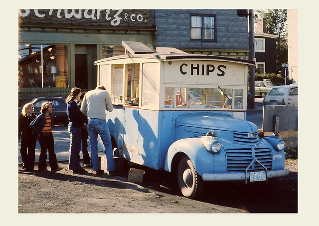 Chip truck in Glace Bay, 1975