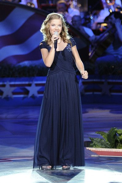 Jackie Evancho Jackie Evancho performs during a rehearsal for the 'A Capitol Fourth 2013 Indepdence Day Concert' on the West Lawn of the US Capitol on July 3, 2013 in Washington, DC.