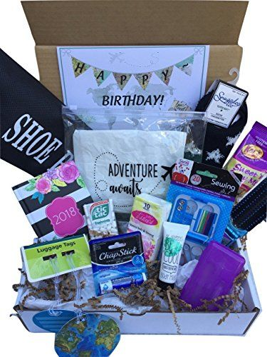 "#Complete #Birthday or #Everyday #Travel #Gift #Basket #Box for Her-Women, #Mom, #Aunt, #Sister #Friend Beautifully packaged, perfectly picked and packed and ready for you to send to say ""Happy Birthday"" or ""I think the world of you"" to that special women in your life! Check ""This order contains a gift"" to add your free personalized message. Included in the #gift box: large, custom made, quality TSA approved clear cosmetic bag measures 8"" x 8"" x 2 3/4"" deep and is filled with"