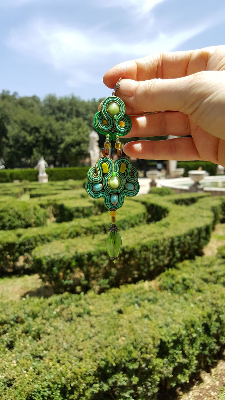 This summer, we are seeing green all over.... photo location: Villa Borghese, Rome  #doricsengeri #villaborghese #rome #roma #greenearrings #fashionaccessories #dropearrings