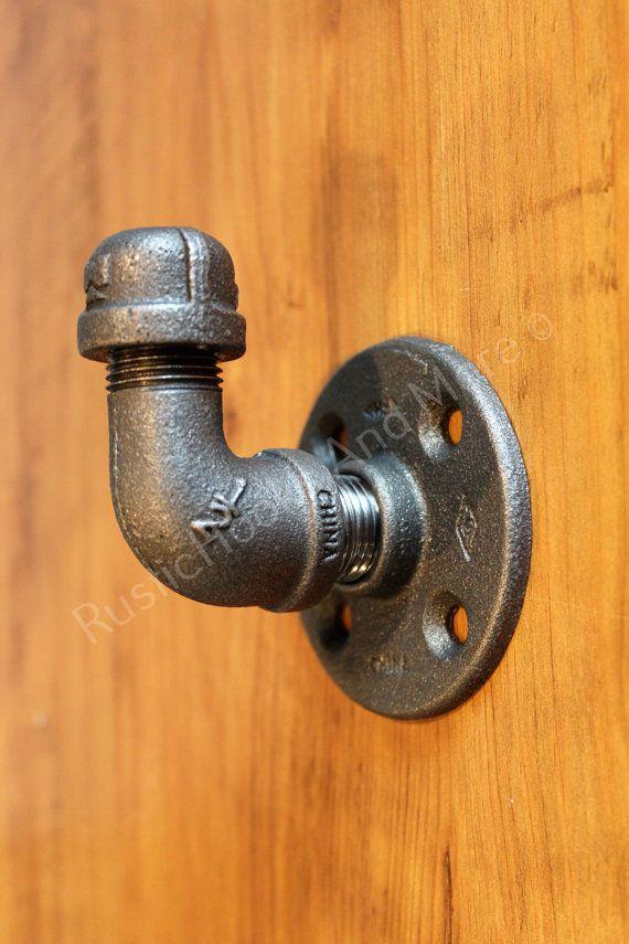 Industrial Coat Hook. Pipe Coat Hook. Pipe by RusticHooksAndMore