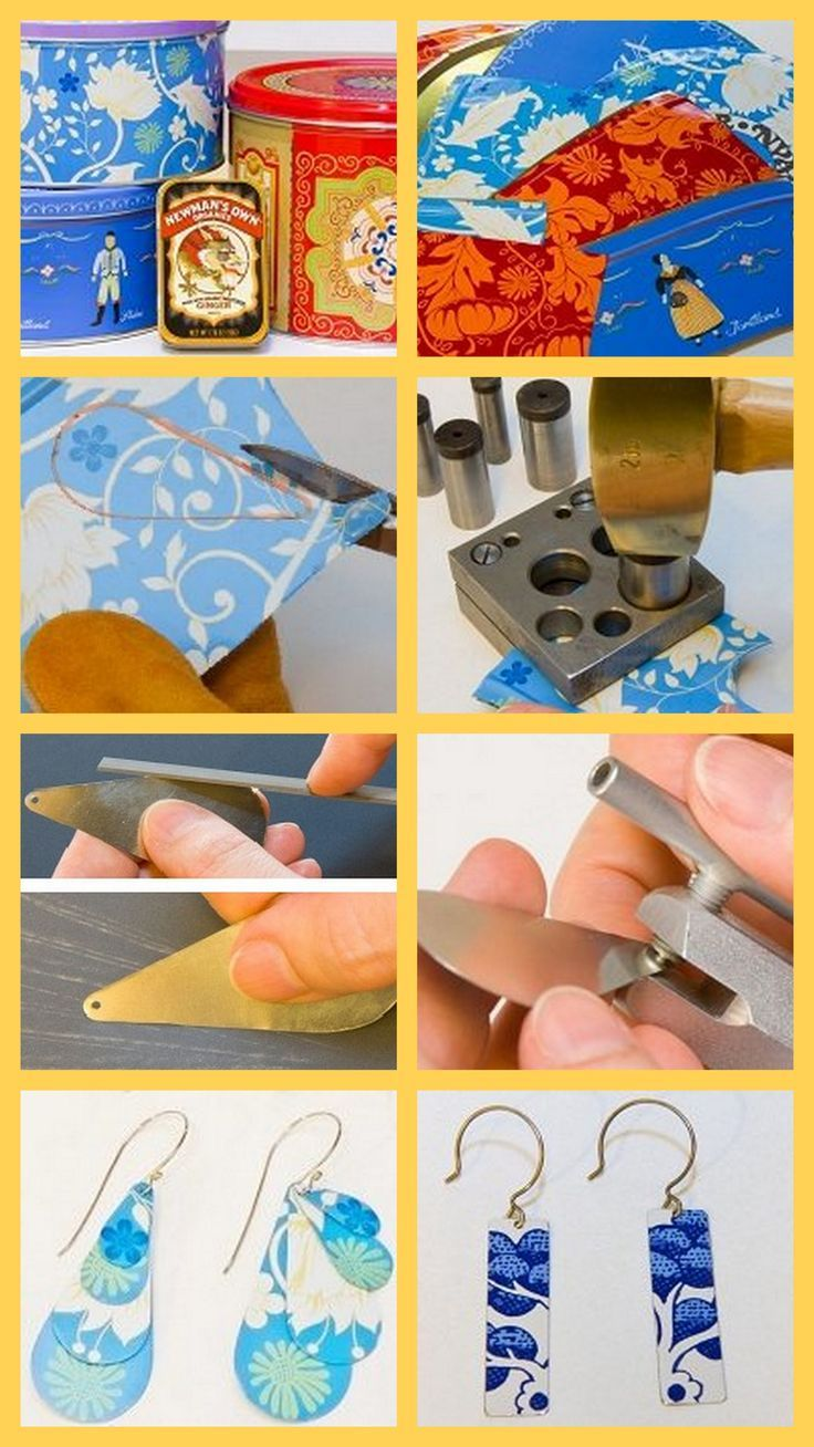 Jewelry Making with Alternative Metals: Upcycled Cookie-Tin Earrings