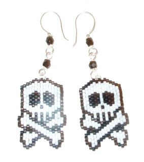 Free Beaded Earring Patterns | Example stitched with Delica beads and the hooks are handmade, you can ...