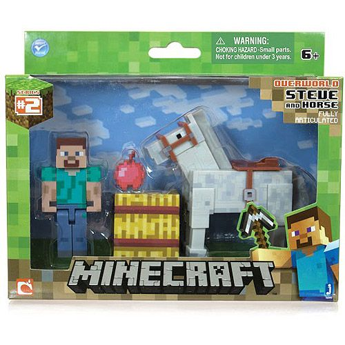 Minecraft Steve with Horse Action Figure -   HEY !!!!  For more really cool minecraft stuff check out http://minecraftfamily.com/