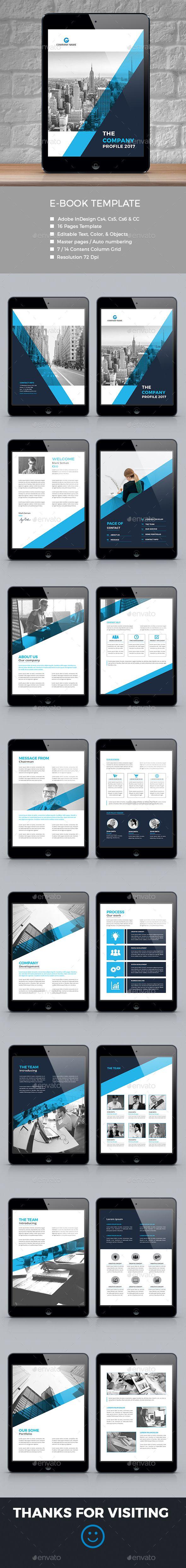 Corporate E Book Template InDesign INDD 586 best