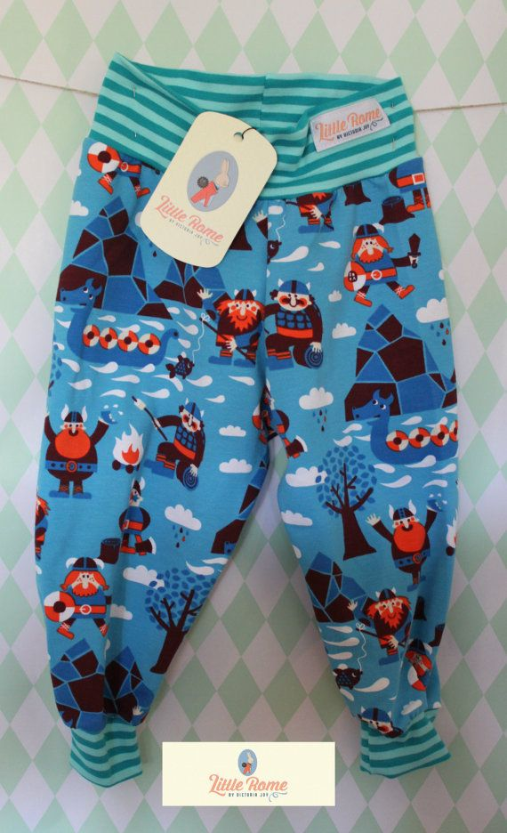 Little Rome's loose fitting baby pants, 100% Organic Jersey Cotton. SIZE 80, 12-18 months.