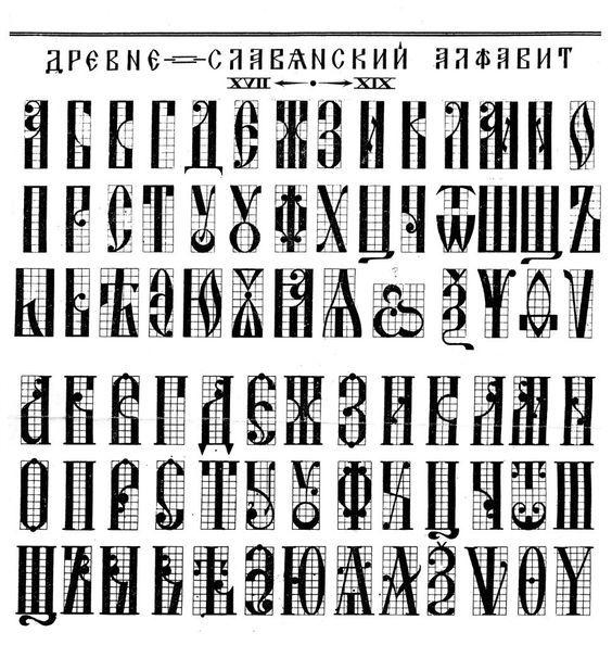 Древне-славянский алфавит: