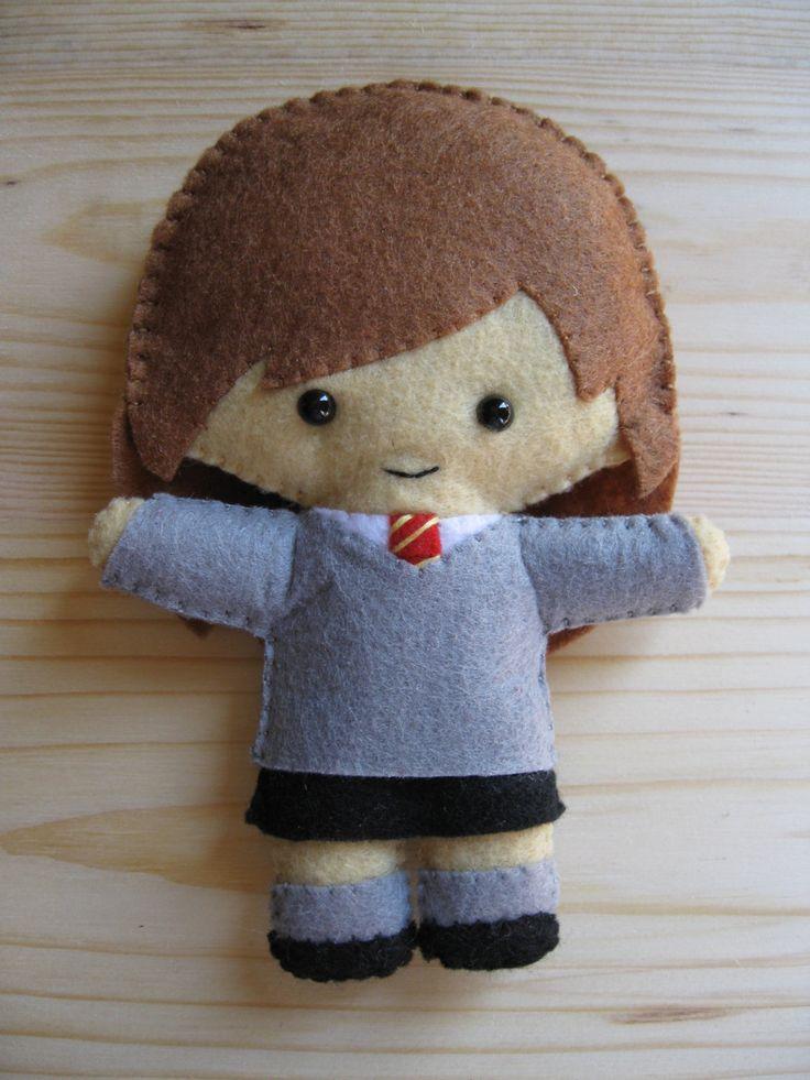 Hermione Granger cute plush felt doll  Harry Potter by HappyAkindo, $14.00