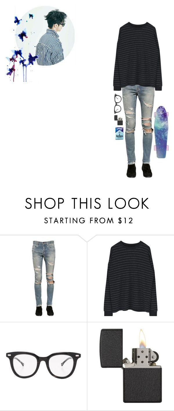 """""""-going  exploring"""" by choi-siyoung ❤ liked on Polyvore featuring INDIE HAIR, Yves Saint Laurent, Over All MasterCloth (OAMC), Diamond Supply Co., Zippo, men's fashion and menswear"""