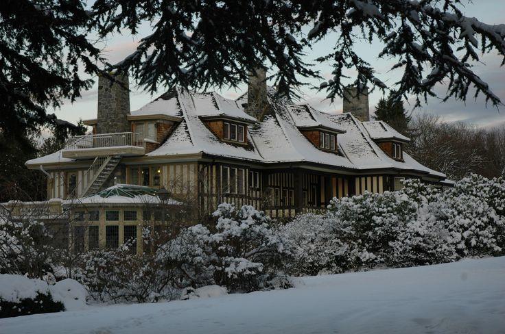 Cecil Green Park in winter. http://cecilgreenpark.ubc.ca #vancouver #venues