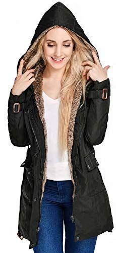 19fcc2a91 Beinia Valuker WomensWinter Long Down CoatWarm Parka Faux Fur Lined Hooded  405-Black-L