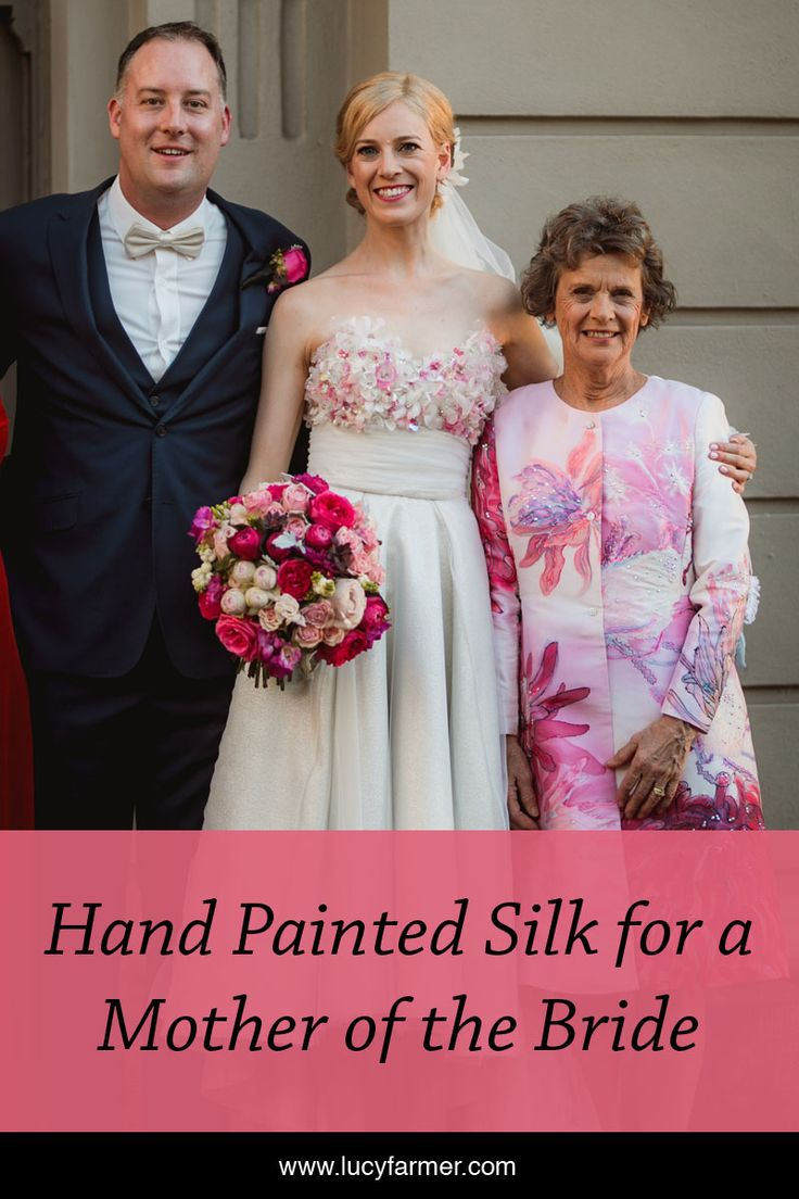 Hand painted silk Mother of the Bride outfit