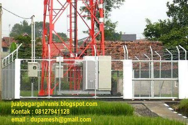 Jual kerangkeng KWH untuk BTS beserta pagar tower BTS dengan pagar BRC