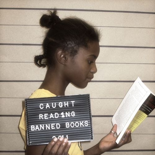 Banned Books Week (BBW )is an annual event celebrating the freedom to read and the importance of the First Amendment. The Oak Park Public Library in Oak Park, IL is highlighting BBW by taking mugshots of staff members and patrons.