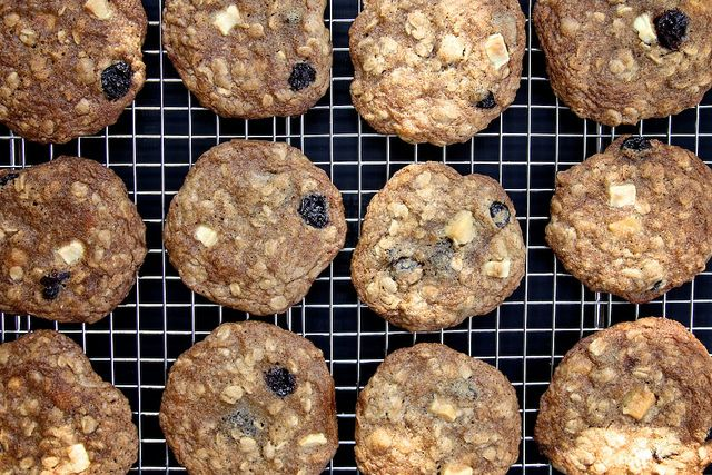 Maple, White Chocolate And Cherry Oatmeal Cookies Recipe — Dishmaps