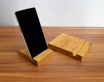 Wood Multi Charging Station. Wood iPad stand. by MagoWoodProducts