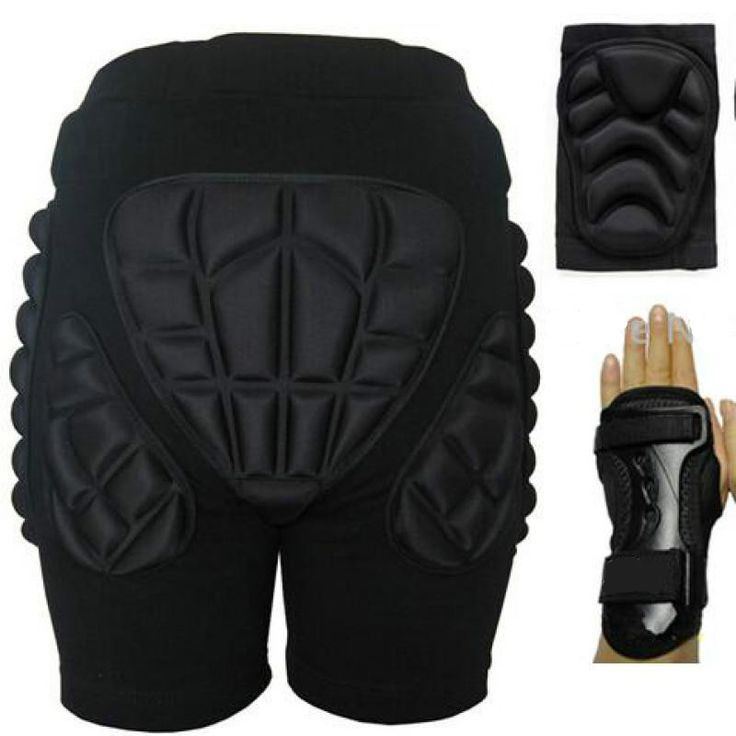 5 Pcs/Set Outdoor Sports Protective Skiing Hip Pad Knee Pads Wrist Support Palm Rooler Skating Snowboard Impact Protection