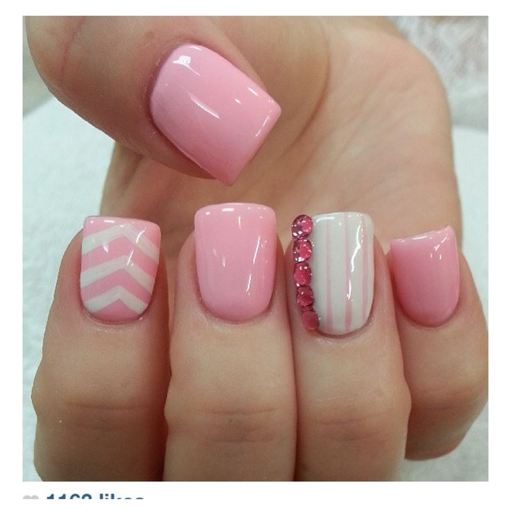 Fake Nails: Hm, Love Chevron, Maybe Use One Fake Nail That Is