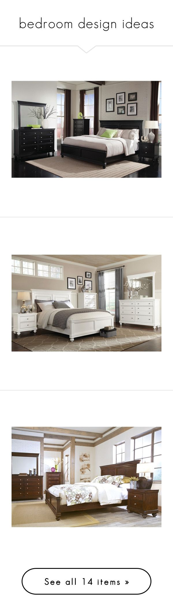 """""""bedroom design ideas"""" by caitlin-rosling ❤ liked on Polyvore featuring home, furniture, onyx furniture, black bedroom sets, black furniture, 5 pc bedroom set, 5 piece bedroom set, white furniture, 5pc bedroom set and white bedroom set"""
