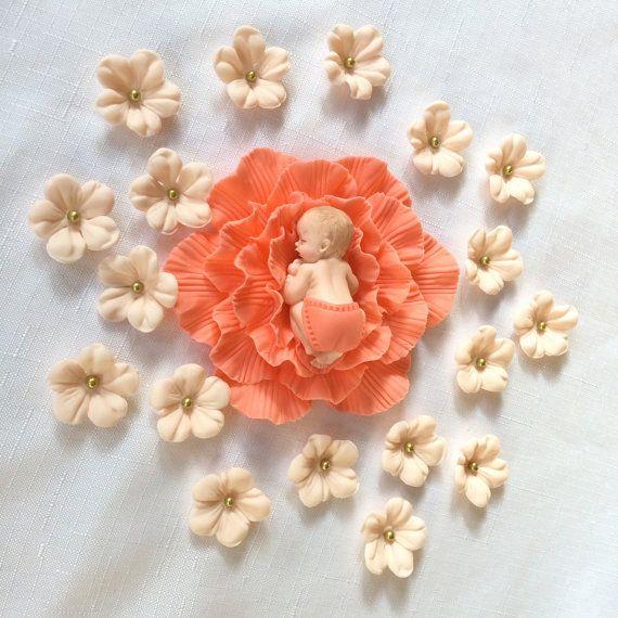 20 baby cake topper ragazza doccia decorazioni di InscribingLives