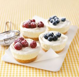 Mini Berry Cheesecakes - a few easy & simple steps! - White Wings