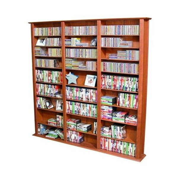 Racks-N-Cabinets, Inc. Cherry 76-Inch Tall Triple Media Storage Tower ($380) ❤ liked on Polyvore featuring home, furniture, storage & shelves, entertainment units, dvd storage shelf, media storage tower, media tower, dvd tower rack and tower
