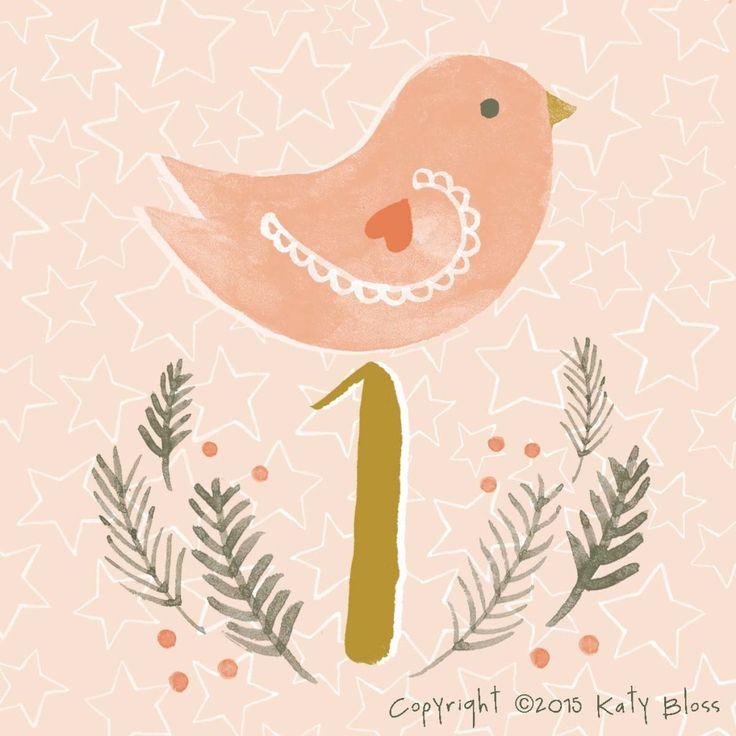 Katy Bloss Illustrated Advent Calendar Day 1