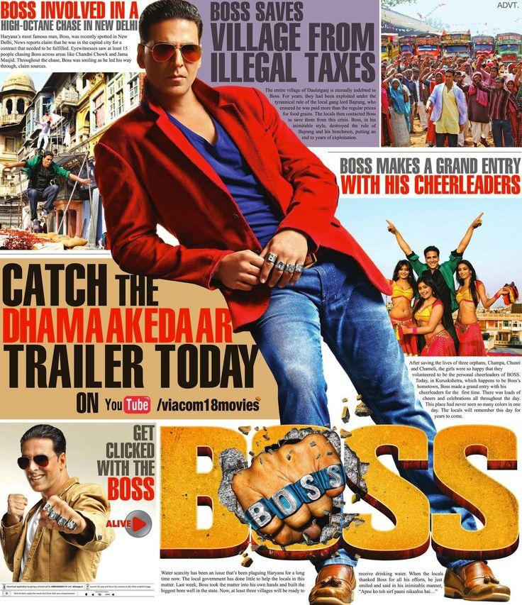 Catch Dhamaakedaar #AkshayKumar's upcoming movie 'Boss' trailer here... http://www.buzzintown.com/bollywood-news--all-new-trailer-poster-boss-starring-akshay-kumar/id--8756.html #Bollywood