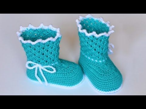 Пинетки сапожки крючком. Мастер класс. Booties crochet - YouTube